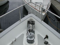 nordhavn self launching bow roller